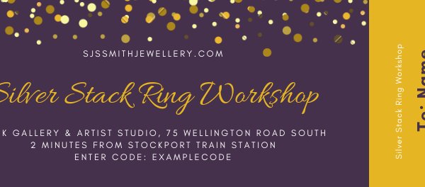 Silver Stack Ring Workshop Gift Voucher