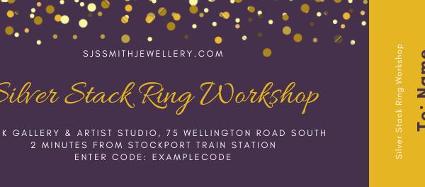 Silver Stack Ring Workshop Gift Voucher