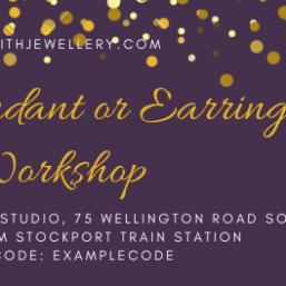 Silver pendant or earring workshop gift voucher