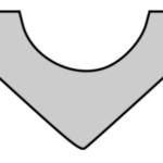 Curved V