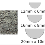 Necklace – semi circle Spirals