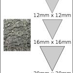 Necklace – triangle 2 Spirals