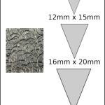 Necklace – triangle 3 Spirals