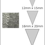 Necklace – triangle 3 Woodgrain