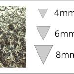 Studs – triangle 1 Flowers 3