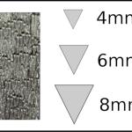Studs – triangle 1 Woodgrain