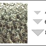 Studs – triangle 2 Flowers 3
