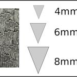 Studs – triangle 3 Woodgrain